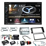 Kenwood DNX-5180DABS Navigation Naviceiver Bluetooth DAB+ Digitalradio Android Auto Smartphone CarPlay USB CD DVD Autoradio FLAC Doppel Din Einbauset für Audi A6 4B Facelift
