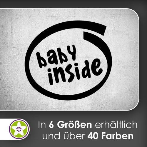 baby inside Wandtattoo in 6 Größen - Wandaufkleber Wall Sticker