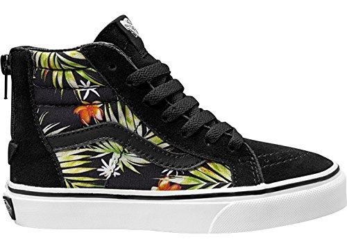 Vans Jungen Uy Sk8-Hi Zip Hohe Sneakers (decay Palms) Black/true White