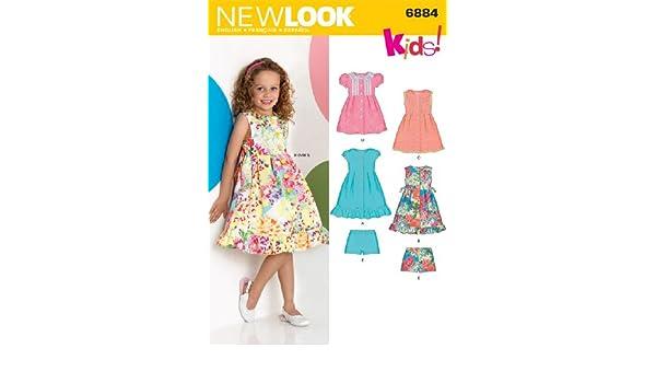 New Look Schnittmuster 6884 – Kind Kleider Größen: A 3 4 5 6 7 8 ...