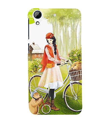 Fiobs Designer Back Case Cover for HTC Desire 728 Dual Sim :: HTC Desire 728G Dual Sim (Lady Girl Ladki Scarf Lovely Good Gift )