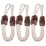 3 Set Türkordel Klemmschutz Türkordeln - Türstopper - Klemmschutz - kein Zuknallen der Tür mehr - ideal für Haustiere - kein Ausschließen mehr - Baumwolle/Polyester