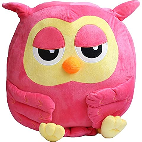 Owl Plush Toy Pillow Pet Stuffed Toys 15.7''(PINK)