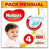 Huggies Ultra Comfort - Pañales Talla 4 (7-18 kg) - 150 Pañales