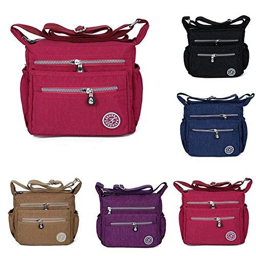 ALIKEEY Lady's Diagonal Nylontasche Wasserdichte One-Shoulder Bag Obdachlose Tasche Umhängetasche