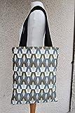 Tote bag Hexa- tissu jacquard - sac femme - accessoire féminin