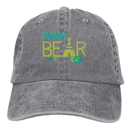 Mama Baseball Jersey (Hipiyoled Mama Bear 2 Denim Hat Adjustable Female Stretch Baseball Caps 5Z946)