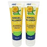 ABO Ringelblumen-Salbe Doppelpack 2x 100ml mit Vitamin E und Avocado-Öl bei beanspruchter und rauer Haut, Salbe mit dem