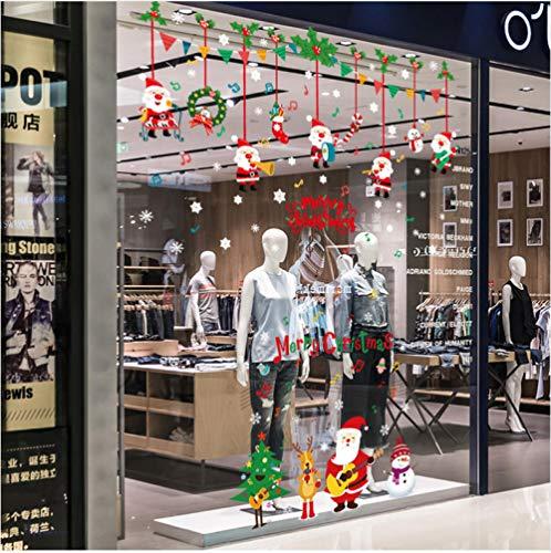 Weihnachtsfeier Diy Weihnachten Wandaufkleber Fensterglas Festival Decals Murals Weihnachtsschmuck Für Wohnkultur