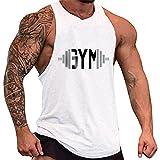 YeeHoo Herren Cut Off Gym Tank Top Muscleshirt Fitness & Bodybuilding Unterhemd Trägershirt Weste