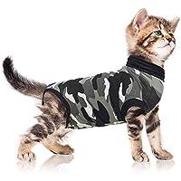 Suitical Recovery Suit, Katzen-Anzug zur Rehabilitation, Größe XXXS, Schwarz-Camouflage