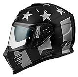 Simpson Helmet Venom Subdued F901de 60l, negro mate de gris, tamaño L