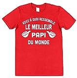 Voici à quoi ressemble le meilleur papi du monde T-shirt en coton