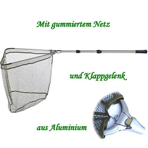Kescher - Unterfangkescher Alu / Balzer 2,60m 3-tlg 60 x 60cm Netz gummiert