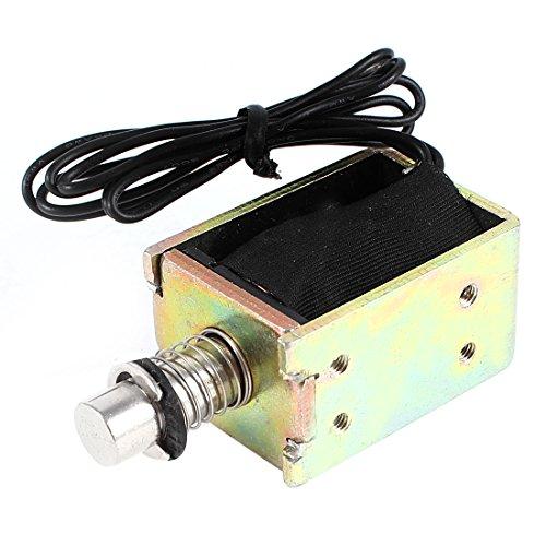 sourcing map DC 12V 10mm 1,1 kg Pull-Push Typ Open-Frame Magnetventil Elektromagnet DE de -