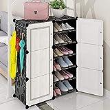 Schuhschrank Multilayer-Klassifikationsspeicher, platzsparender staubdichter Montageschuhschrank für den Haushalt, Platz für bis zu 24 Paar Schuhe