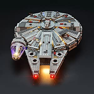 LIGHTAILING Set di Luci per (Star Wars Millennium Falcon) Modello da Costruire - Kit Luce LED Compatibile con Lego 75105…  LEGO