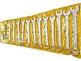 Extol Craft–Chiave combinata a forchetta/ad anello, Set 12Pezzi, 6333B