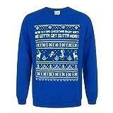Rick and Morty Herren We Gotta Get Outta Here Weihnachtspullover (2XL) (Blau)