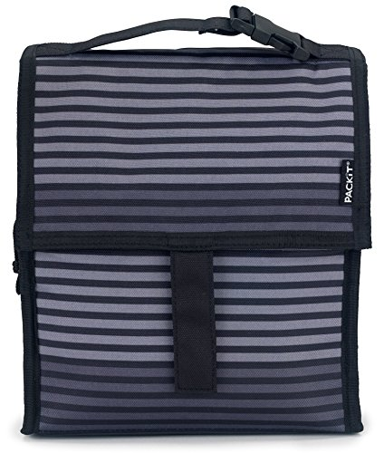 Packit Borsa Termica, Multicolore (Surf Stripe) Grigio (Gray Stripe)