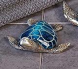 Casablanca Schildkröte Kröte Josie silber blau Poly Deko Figur Badezimmerdekoration, Baddeko 59973