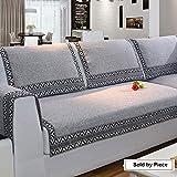 Z-one Sofa Abdeckung Retro Dekoration Sofa Überwurf Baumwolle Anti-rutsch Schmutzabweisend Kissen beschützer Für L förmige- C