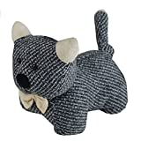 Türstopper Katze grau oder braun 23cm Türhalter Türfeststeller Türpuffer Stopper, Farbe:grau