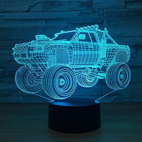 Wangshengchao Geschenke SUV Auto Fahrzeug Form 3D Lampe 7 Farben Ändern Led Nachtlampe Schreibtisch Tischdekoration Lichter,Stil 1