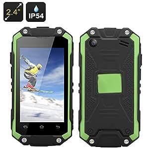 J5 - Smartphone étanche / IP54 / Écran 2.4 pouces / CPU Dual core MTK6572W / Dual SIM WCDMA/GSM / Vert