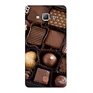 Sweet Choco Pack Multicolor Back Case Cover for Galaxy A7