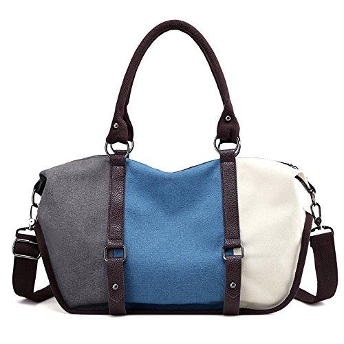 LOSMILE Damen Handtasche Canvas Umhängetasche Schultertaschen Kuriertasche Henkeltaschen Handgelenkstaschen Shopper Tasche.