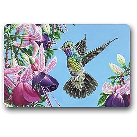 Amazing assorbimento di acqua ad asciugatura rapida–Zerbino con colibrì e Morning Glory Zerbino 30(L) X (W)
