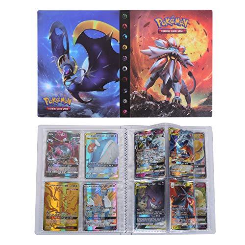 Pokémon Carte Album, Pokemon Cartes Titulaire, Collectors Album, Trading Card Album, Classeur pour Cartes Album Livre Protection pour GX EX Trainer Cartes (Sun & Moon)