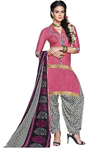 Viva N Diva Women's Pink Color Unstiched Patiala Casual Salwar Suit