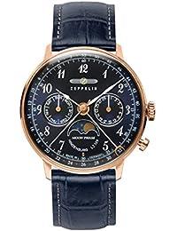 Zeppelin Unisex-Armbanduhr Chronograph Quarz Leder 7039-3
