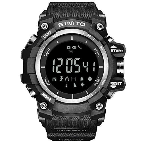 Outdoor-Sport, Bergsteigen, Laufen, Fitness-Smartwatch, Kalorienberechnung, Foto-Fernbedienung, Nachtlicht, eingehender Anruf, APP-Erinnerung, Bluetooth, wasserdicht, elektronische Uhr-Black -