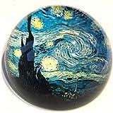 Van Gogh–Starry Night–Pisapapeles de cristal