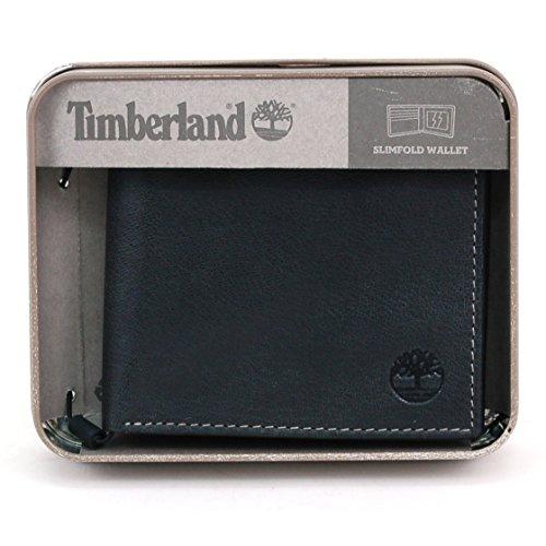 Timberland Men s Genuine Leather Slim Bifold Wallet Black