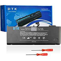 """Dtk A1382 Batterie de Remplacement pour A1286 (Only for Core I7 Early 2011 Late 2011 Mid 2012) Unibody Macbook Pro 15"""" I7, Also Fit 661-5476 661-5211 [Li-Polymer 6-Cell 10.95v 6800mah 74wh]"""
