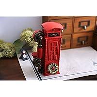 Preisvergleich für Treasure-House London Telefonbuch Sparbüchse - Red Diecast Geld Bank / Britische Telefonzelle Piggy Bank / Vereinigtes Königreich Münze Saver / Savings Storage / Großbritannien UK Souvenir / Für Kinder und Erwachsene aller Altersstufen