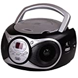 Trevi CD 512 portable Boombox mit Stereo-CD-Radio MP3-Player kompakt schwarz