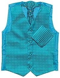 Paisley of London, Niño aguamarina chaleco, corbata & pañuelo set, diamante chalecos, 3m - 14 años