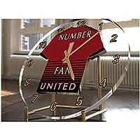MyShirt123 MANCHESTER UNITED FC FOOTBALL CLOCK - MANCHESTER UNITED FC  NUMBER ONE FAN DESKTOP CLOCK - 6cf19d7cb