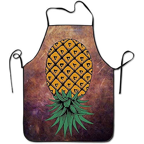 Indianer Ziel Kostüm - Bee Brown Schürzen Funny Apron Chef Kitchen Cooking Apron Lätzchen Upside Down Pineapple Cooking Easy Care