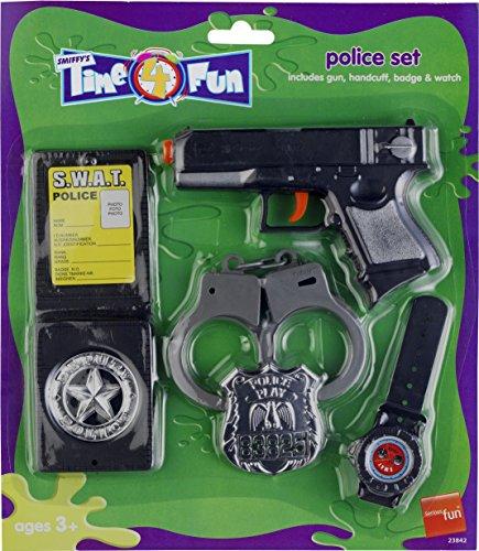 set mit Pistole, Handschellen, Abzeichen und Watch (Watch Halloween 4 Teil 1)