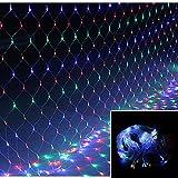 VINGO 3 * 3M LED Lichternetz Lichterkette mit 300 LEDs Weihnachten mit Steuerbox