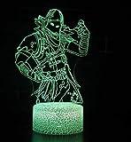 3D Tischlampe Led Schreibtisch Lampe 7 Farben Touch Nachtlicht (Figur2)