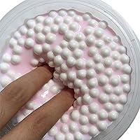 LQZ TM Slime Fluffy Floam Argile Boue de Neige Visqueux Soulagement du Stress Boue de jouet Jouets de Décompression Biscuit Doux Coloré aux Oeufs Enfant Adulte
