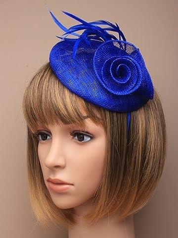 Différentes formes 3D ® Bleu roi Chapeau Serre-tête bibi mariage