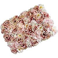 Straße für DIY 9x Künstliche Rosen Blumenwand Blumen Säule